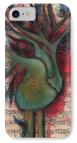 Green Tree Of Life IPhone Case by Abril Andrade Griffith