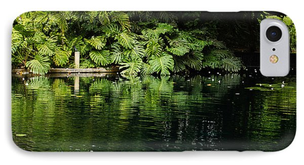 Green Tropical Paradise - The Gardens Of The Museum Of Art Of Puerto Rico IPhone Case by Georgia Mizuleva
