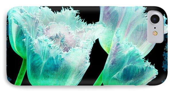 Green Tulip Glow Phone Case by Debra  Miller