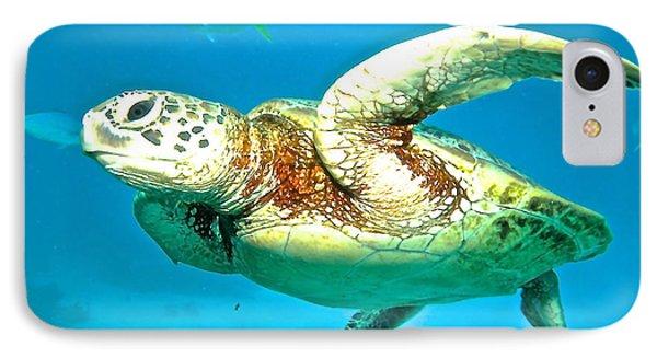 Far North Queensland iPhone 7 Case - Green Turtle by Casey Herbert