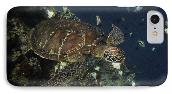 IPhone Case featuring the photograph Hawksbill Turtle by Sergey Lukashin