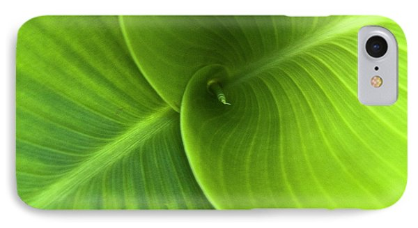 Green Twin Leaves Phone Case by Heiko Koehrer-Wagner