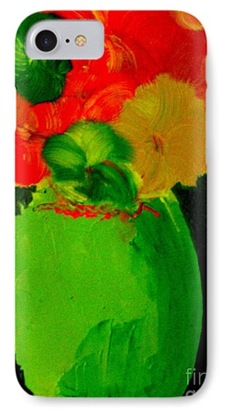 Green Vase 22 IPhone Case by Bill OConnor