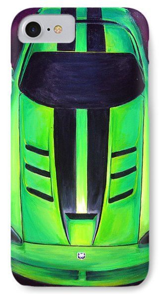 IPhone Case featuring the painting Green Viper by Sheri  Chakamian