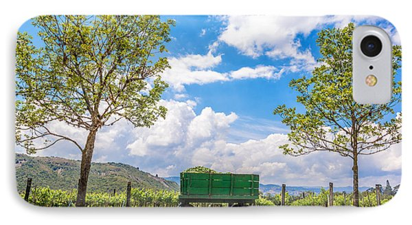 Green Wagon And Vineyard IPhone Case by Jess Kraft