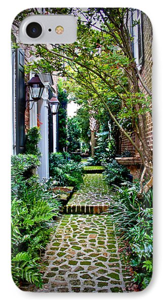 IPhone Case featuring the photograph Green Walkway by Jean Haynes