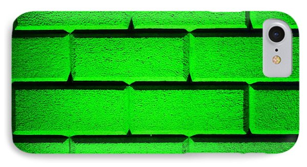 Green Wall Phone Case by Semmick Photo