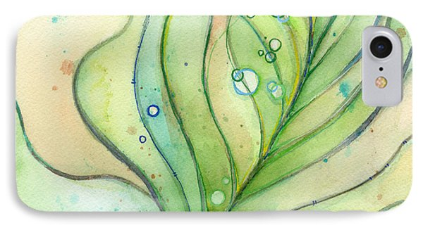 Green Watercolor Bubbles IPhone Case by Olga Shvartsur
