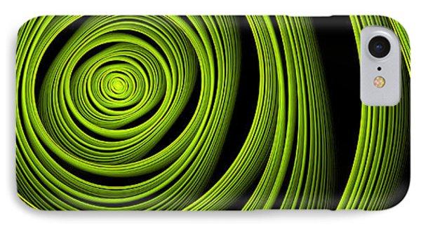 IPhone Case featuring the digital art Green Wellness by Gabiw Art