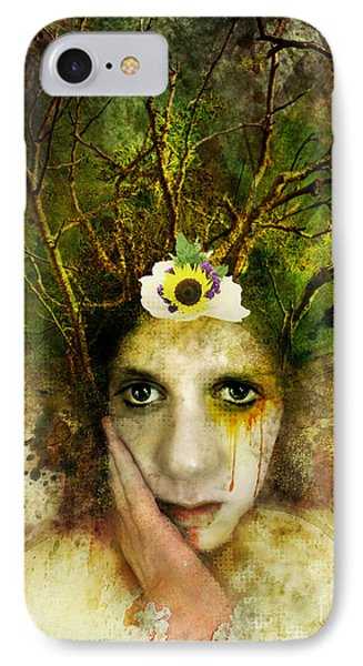 Green Woman IPhone Case by Michael Volpicelli