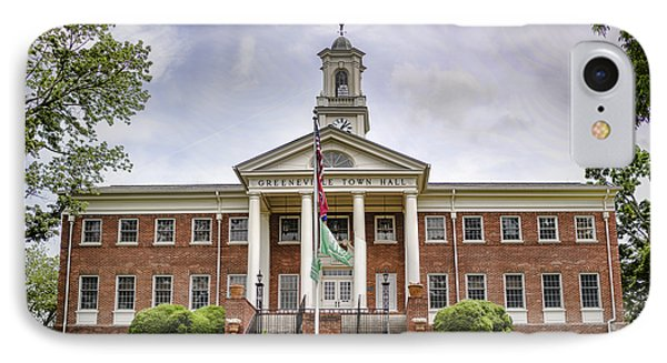 Greeneville Town Hall Phone Case by Heather Applegate