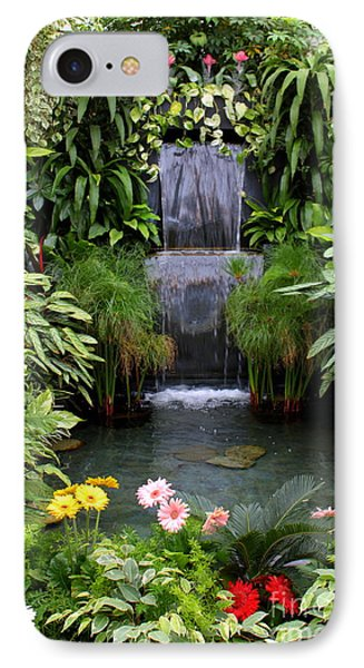 Greenhouse Garden Waterfall Phone Case by Carol Groenen
