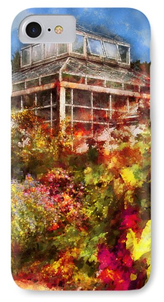 Greenhouse - The Greenhouse And The Garden Phone Case by Mike Savad