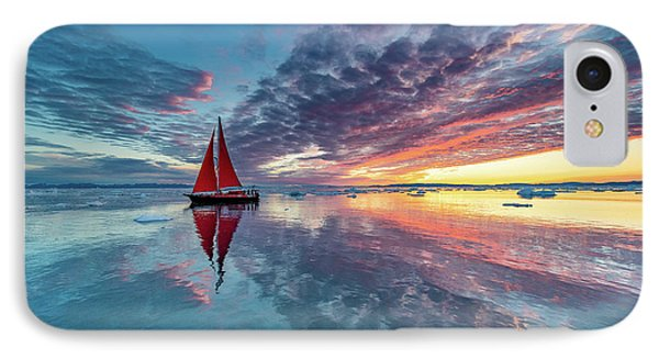 Dawn iPhone 7 Case - Greenland Fire Sky by Marc Pelissier