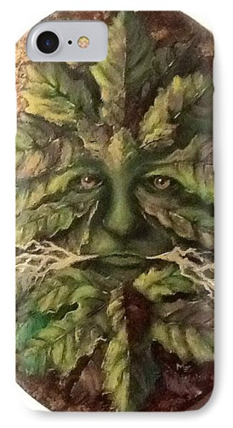 IPhone Case featuring the painting Greenman by Megan Walsh