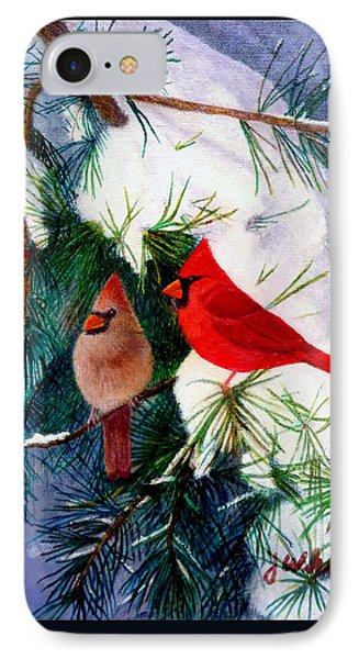 Greeting Cardinals IPhone Case