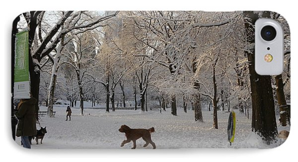 IPhone Case featuring the photograph Greeting Friends In Central Park by Winifred Butler