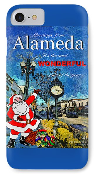 Alameda Christmas Greeting IPhone Case