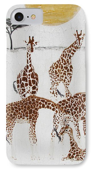 IPhone Case featuring the painting Greeting The New Arrival by Stephanie Grant