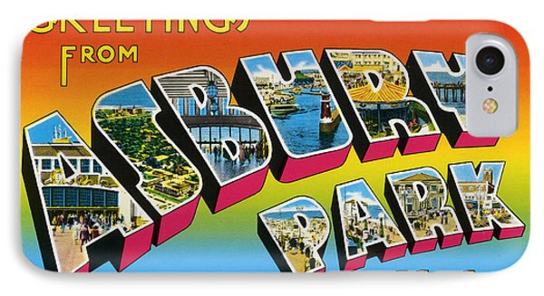 Greetings From Asbury Park Nj IPhone Case by Bill Cannon