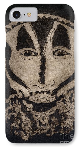 IPhone Case featuring the painting Greetings From New Guinea - Mask - Tribesmen - Tribesman - Tribal - Jefe - Chef De Tribu by Urft Valley Art