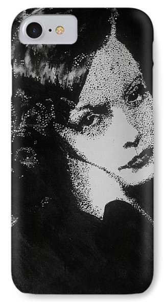 IPhone Case featuring the painting Greta Garbo by Cherise Foster