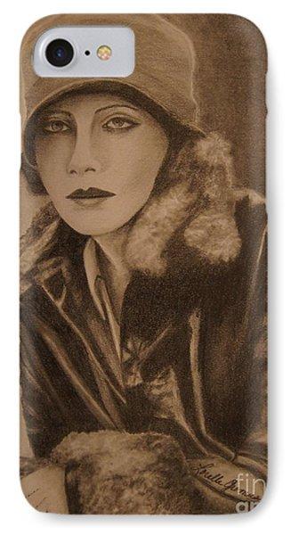 Greta Garbo Phone Case by Lorelle Gromus