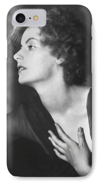 Greta Garbo Portrait IPhone Case by Arnold Genthe