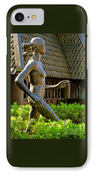 IPhone Case featuring the photograph Grete Waitz Sculpture by Joy Hardee