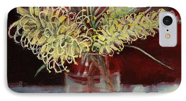 IPhone Case featuring the painting Grevillea Still Life by Margaret Stockdale
