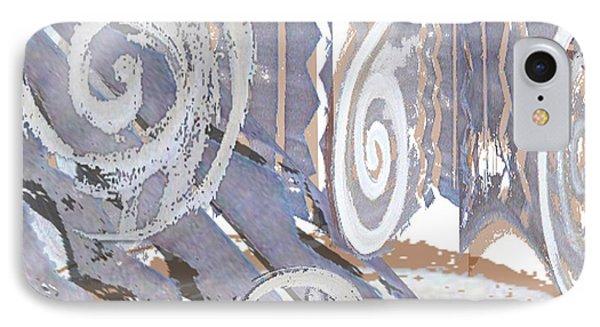 Grey Abstraction 4 Phone Case by Eva-Maria Becker