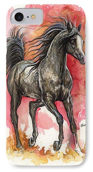 Grey Arabian Horse 2014 01 12 IPhone Case
