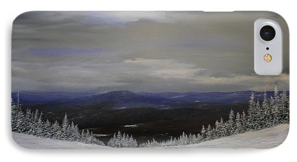 IPhone Case featuring the painting Grey Day by Ken Ahlering