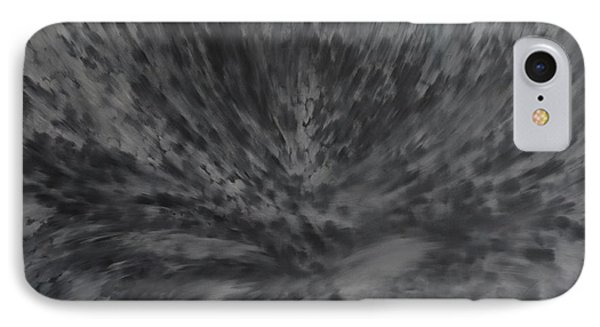 IPhone Case featuring the painting Grey Emotions In Motion by Stuart Engel