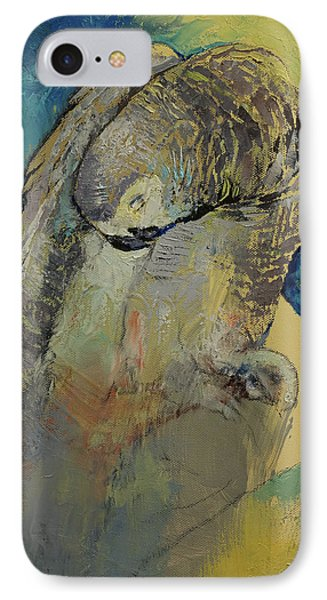 Grey Parrot IPhone Case by Michael Creese