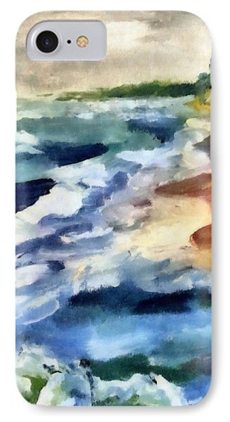 Grey Sky Day On The Lake IPhone Case