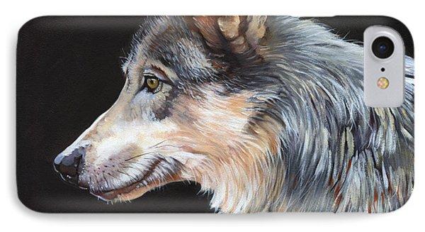 Grey Wolf IPhone Case by J W Baker