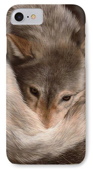 Grey Wolf Painting IPhone Case
