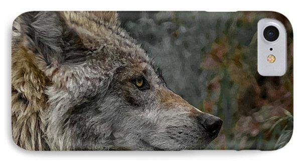 Grey Wolf Profile 3 Phone Case by Ernie Echols