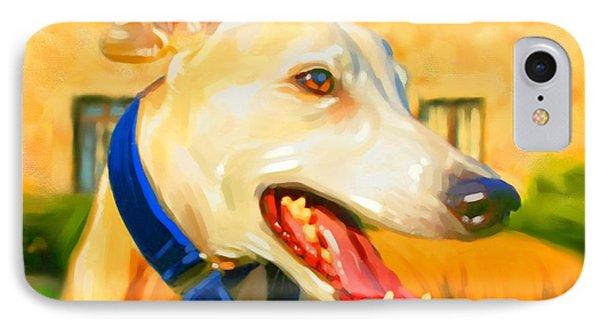 Greyhound Painting Phone Case by Iain McDonald
