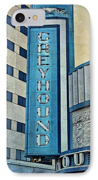 Greyhound Sign IPhone Case by Sandy Keeton