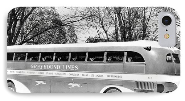 Greyhound X-1 Super Coach Bus IPhone Case by Underwood Archives