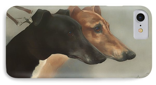Greyhounds  IPhone Case by Mountain Dreams