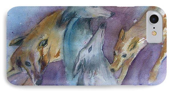 Greyhounds Having A Meeting IPhone Case