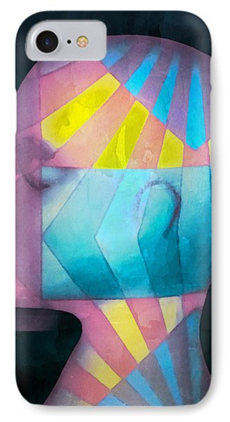 IPhone Case featuring the photograph Grid Head by Jeff  Gettis