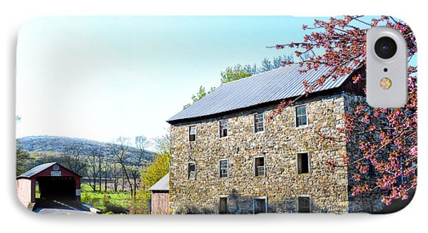Griesemer's Mill And Covered Bridge IPhone Case