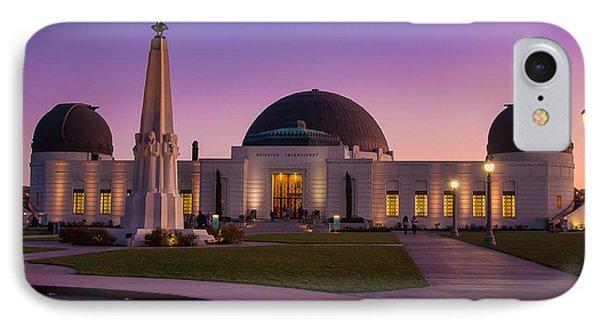 Griffith Observatory Phone Case by Eddie Yerkish