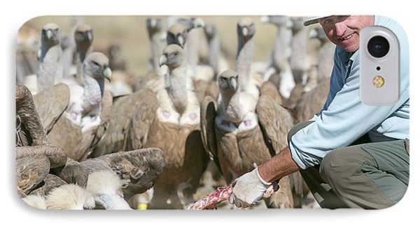 Griffon Vulture Conservation IPhone 7 Case by Nicolas Reusens