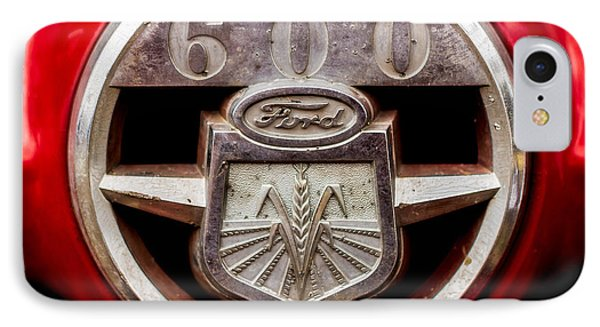 Grill Logo Detail - 1950s-vintage Ford 601 Workmaster Tractor IPhone Case