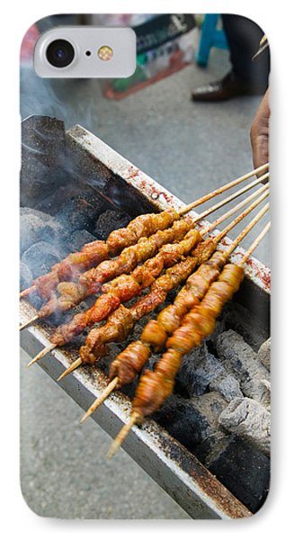 Grilled Meat Snack Stand In A Street IPhone Case by Panoramic Images